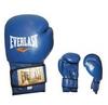 Перчатки боксерские Everlast VL-0106-B кожаные синие - фото 1