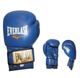 Фото 1 к товару Перчатки боксерские Everlast VL-0106-B кожаные синие