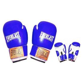 Перчатки боксерские Everlast VL-0107-B кожаные синие