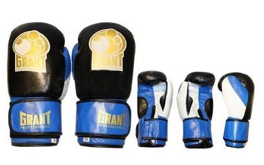 Перчатки боксерские Grant MA-3306-B кожаные синие