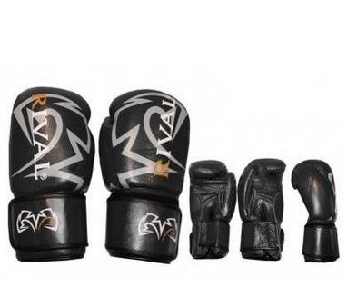 Перчатки боксерские Rival MA-3307-BK кожаные черные