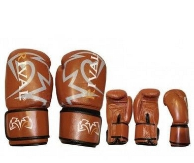 Перчатки боксерские Rival MA-3307-BR кожаные коричневые