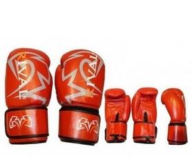 Перчатки боксерские Rival MA-3307-R кожаные красные