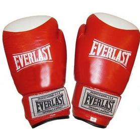 Фото 1 к товару Перчатки боксерские Everlast VL-0105-R кожаные красные