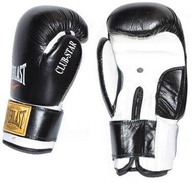 Перчатки боксерские Everlast VL-0107-BK кожаные черные