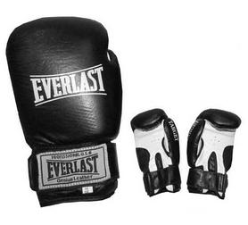 Перчатки боксерские Everlast Target BO-3340-BK кожаные черные - 10 oz