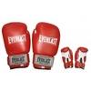 Перчатки боксерские Everlast Target BO-3340-R кожаные красные - фото 1