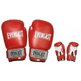 Фото 1 к товару Перчатки боксерские Everlast Target BO-3340-R кожаные красные