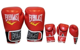 Фото 2 к товару Перчатки боксерские Everlast BO-3987-R красные