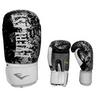 Перчатки боксерские Everlast BO-4227-BK кожаные черные с белым - фото 1