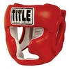 Шлем боксерский Title Pro Full Face Training Headgear красный - фото 1