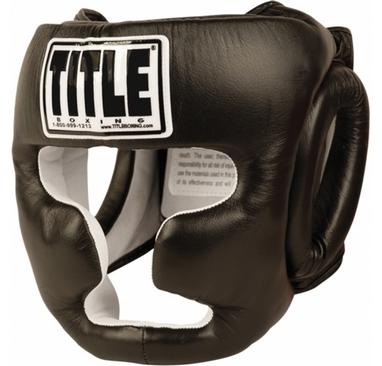 Шлем боксерский Title Pro Full Face Training Headgear черный