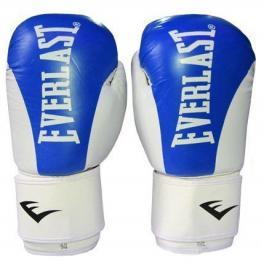 Перчатки боксерские Everlast BO-3626-B кожаные синие - 12 oz