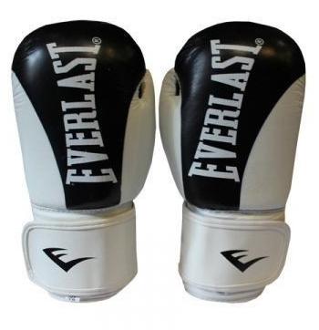 Перчатки боксерские Everlast BO-3626-BK кожаные черные - 12 oz