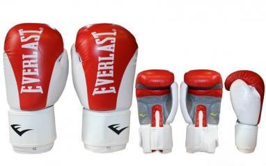 Перчатки боксерские Everlast BO-3626-R кожаные красные