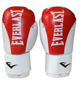 Перчатки боксерские Everlast BO-3626-R кожаные красные - 10 oz