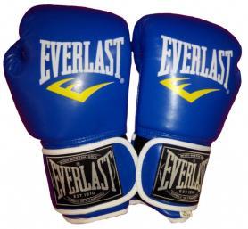Перчатки боксерские Everlast BO-3987-B синие - 12 oz