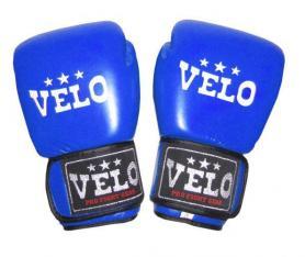 Перчатки боксерские Velo ULI-3046-B кожаные синие