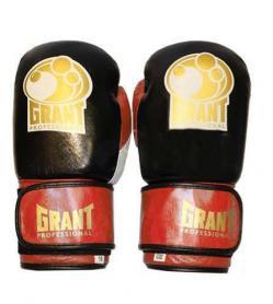 Перчатки боксерские Grant MA-3306-R кожаные красные - 10 oz