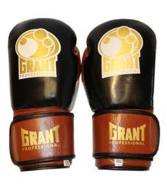 Перчатки боксерские Grant MA-3306-BR кожаные коричневые 12 oz