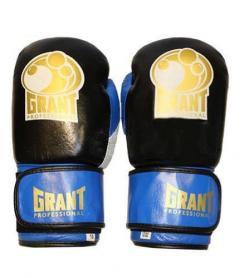 Фото 1 к товару Перчатки боксерские Grant MA-3306-B кожаные синие