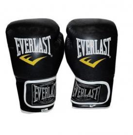 Перчатки боксерские Everlast BO-3987-BK черные - 12 oz