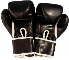 Фото 2 к товару Перчатки боксерские Everlast BO-3987-BK черные