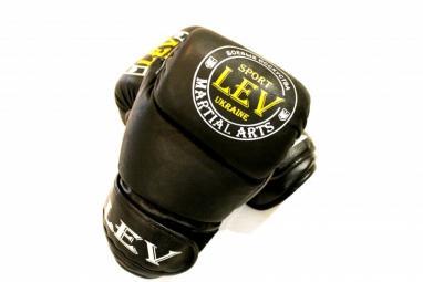 Перчатки боксерские Лев LV-4281-BK Класс черные