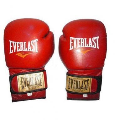 Перчатки боксерские Everlast VL-0106-R кожаные красные