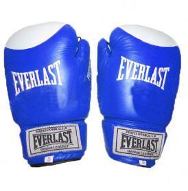 Перчатки боксерские Everlast VL-0105-B кожаные синие
