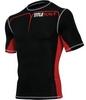 Компрессионная футболка Title MMA Short Sleeve Quad-Flex Adversary красная - фото 1
