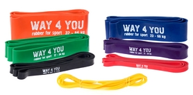 Фото 2 к товару Тренажер - резиновая петля Way-4-you зеленая 17-54 кг