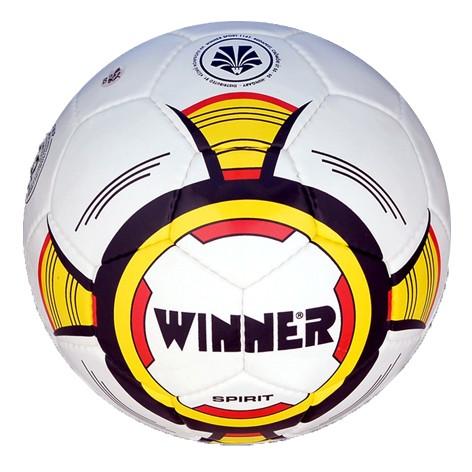 Мяч футбольный Winner Spirit белый с желтым