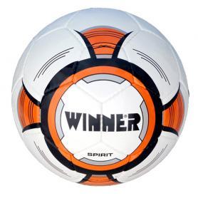 Мяч футбольный Winner Spirit белый с оранжевым