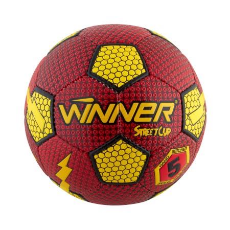Мяч футбольный Winner Street Cup красный с желтым