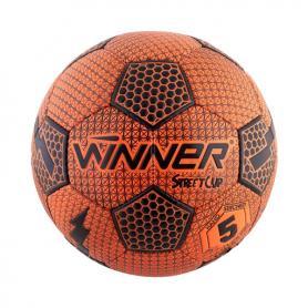 Фото 1 к товару Мяч футбольный Winner Street Cup оранжевый с черным