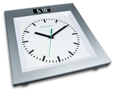 Весы напольные (стеклянные) Medisana 40436 с аналоговыми часами