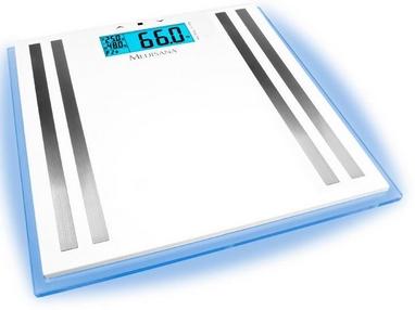 Весы напольные (стеклянные) Medisana 40480  с подсветкой и функцией определения параметров тела