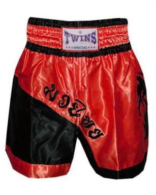 Трусы для тайского бокса TWINS ZB-6138-R красные