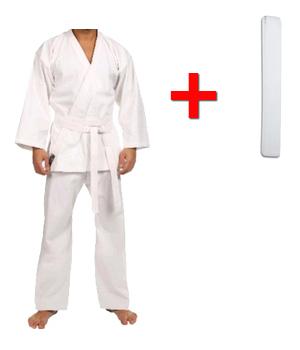 Кимоно для карате Сombat Budo белое + пояс в подарок - 130 см