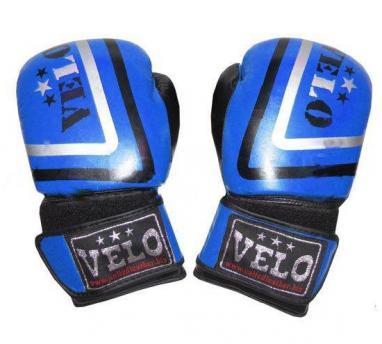 Перчатки боксерские Velo ULI-3043-R кожаные синие