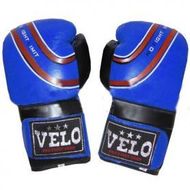 Фото 1 к товару Перчатки боксерские Velo ULI-3041-B кожаные синие