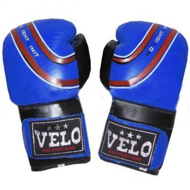 Перчатки боксерские Velo ULI-3041-B кожаные синие