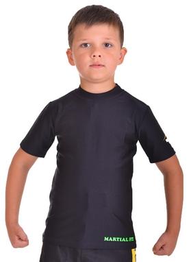 Футболка компрессионная детская Berserk for Kids Martial Fit black