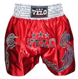 Трусы для тайского бокса VELO ULI-9200-R красные с золотым