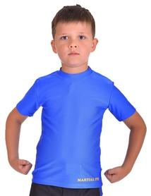 Футболка компрессионная детская Berserk for Kids Martial Fit blue - 5XS