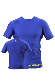 Футболка компрессионная Berserk Martial Fit синяя - XL