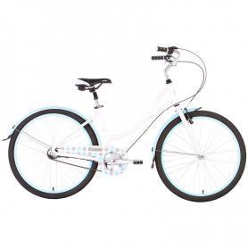 "Велосипед женский 26"" Pride Classic бело-синий"