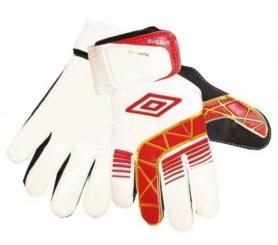 Перчатки вратарские Umbro бело-красные
