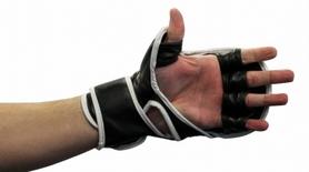 Фото 4 к товару Перчатки для смешанных единоборств 7 oz Fighter black